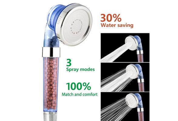 ABS Water-Saving High-Pressure Shower Head Ionic Handheld Filtration Showerhead