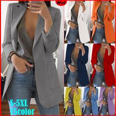 Fashion, Blazer, Office, Women Blouse