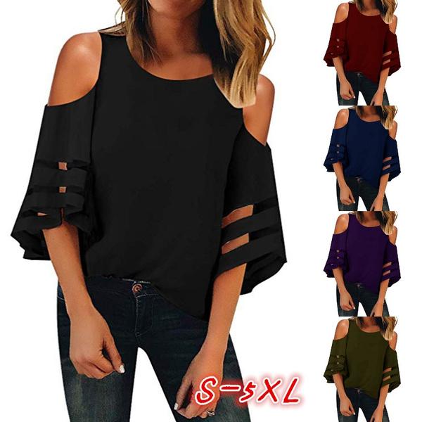 blouse, Summer, women top, Chiffon top