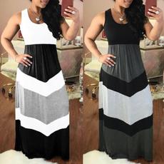 Plus Size, long dress, Dress, high waist