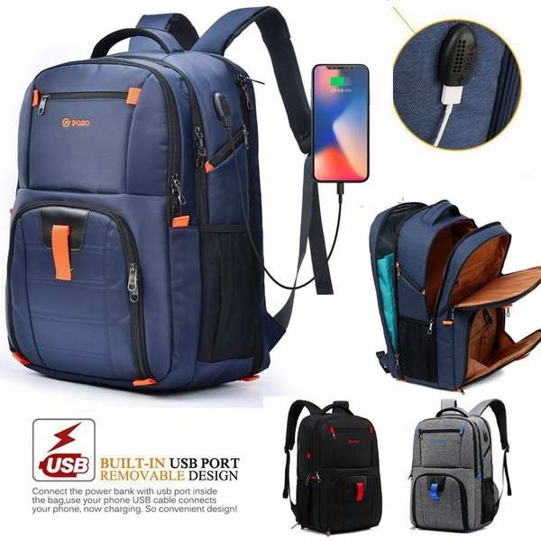 17.3 Inch Laptop Backpack with USB Charging Port Computer Backpack for Dell HP