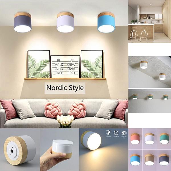 Led Downlight Ceiling Spotlights Living Lamp Nordic Lighting For Kitchen Bathroom Spot Light Surface Mounted Ac90 260v