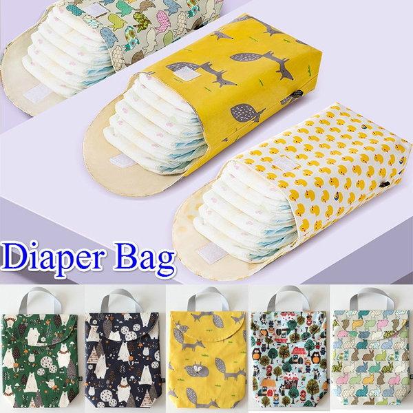 1PC Baby Diaper Organizer Multifunctional Reusable Waterproof Travel Nappy Bag