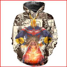 3D hoodies, myheroacademia, Cosplay, 3d sweatshirt