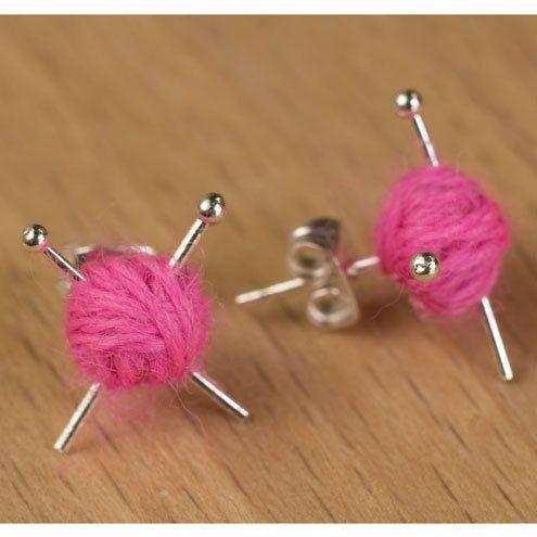 pink, Knitting, Hot Pink, creativeeraring