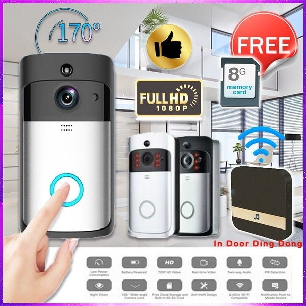HD1080P Smart Home Wireless WIFI Video Doorbell Mobile Phone Remote on home safe, home bathroom, home computer, home mailbox, home pain, home security, home lock, home flooring, home tree, home chimney, home fire, home stove, home kitchen, home toilet, home shower, home lights, home ladder, home driveway, home refrigerator,