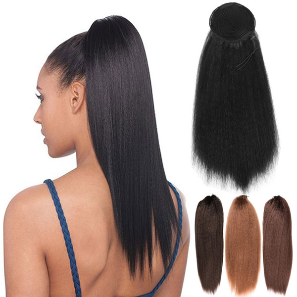22 inch New Fashion long Straight Drawstring