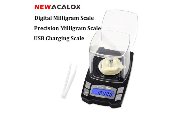 Digital Milligram Scale 50 x 0 001 Milligram Jewelry Scale Digital Pocket  Scale lab digital scale Rechargeable Scales