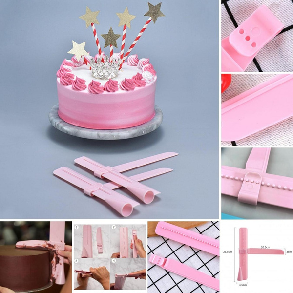 Cake Decorating Tools Adjustable Scraper Fondant Icing Smoother Baking Mold