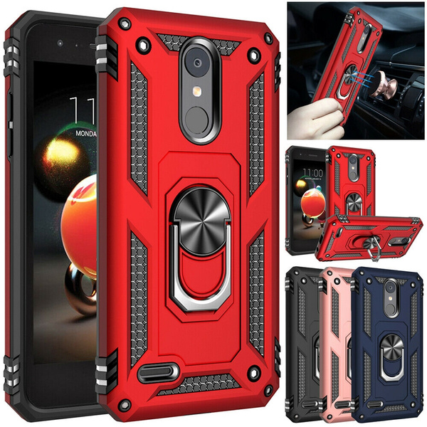 Rugged Armor Shockproof Case Cover with Ring Holder Stand For LG Stylo 5 /  K40 / Aristo 3 / Phoenix 4 / Rebel 4/ Aristo 2/ Tribute Empire / Tribute