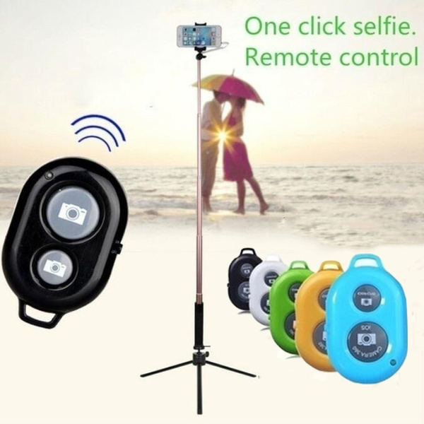 Bluetooth wireless shutter camera mobile phone self timer remote control  for Apple Android Mobile Phone Camera