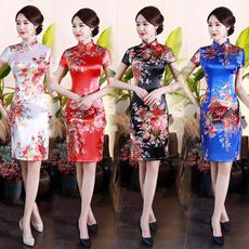 Summer, Fashion, Chinese, womensilkdres