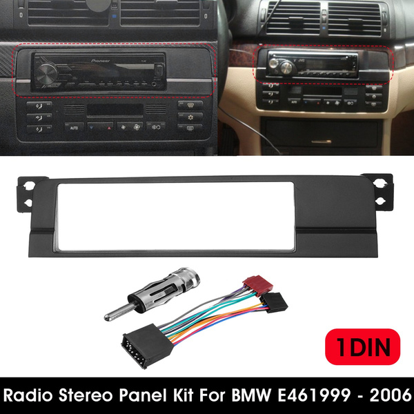 1 Din Car Radio Fascia DVD Stereo Panel Dash Mount Trim Kit Surround Frame  Plate For BMW 3 Series E46 1999-2006
