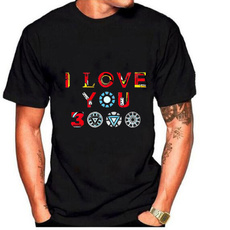 tonystark, Love, Cotton T Shirt, roundnecktshirt