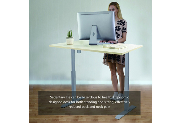 Electric Height Width Adjustable Standing Desk Frame Single Motor/&Memory Control