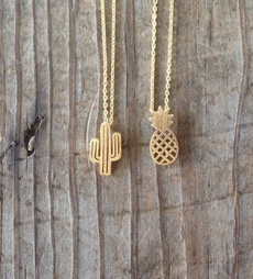 monogram, goldplated, cactu, charmpendantnecklace