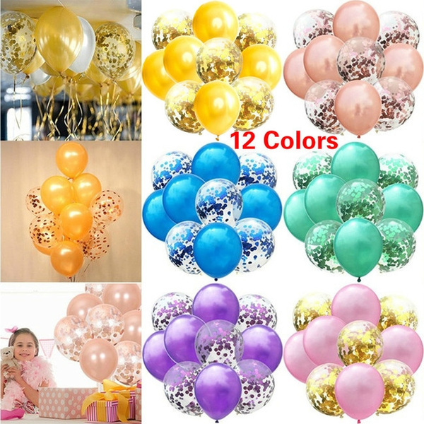 "10 20 12/"" Confetti Latex Balloons Helium B-DAY Party Wedding Baby Shower Large"