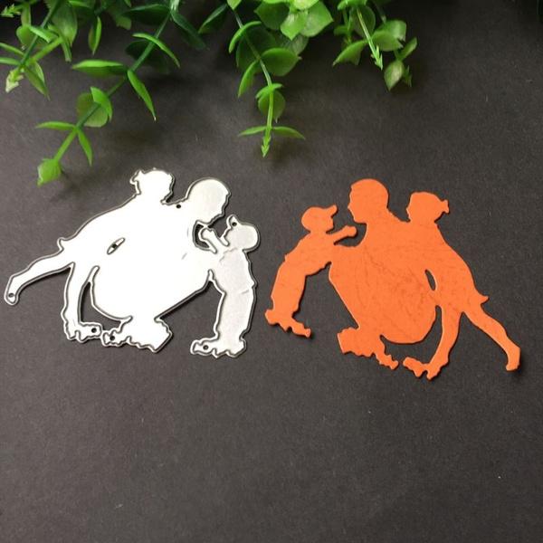 Family Metal Cutting Dies Stencil DIY Scrapbooking Album Stamp Paper Card Craft
