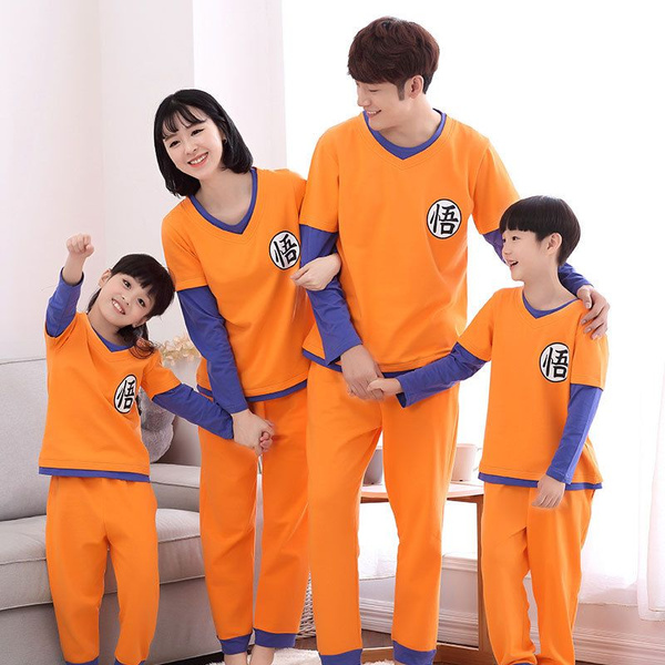 Family Christmas Pajamas 2019.2019 Latest Fashion Dragon Ball Family Pajamas Set Family Christmas Outfit Pijama Mommy And Me Clothes Mum Daughter Sun Wukong Family Clothing