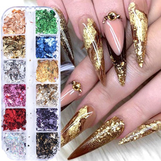 nail decoration, decoration, nail stickers, Holographic
