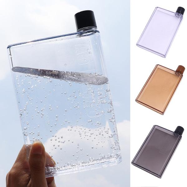 Water Bottle Clear Book Portable Travel Water Bottle Flat Drinks Cup Mini Kettle