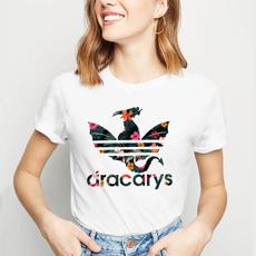 Cotton T Shirt, Loose, short sleeves, dracarytshirt