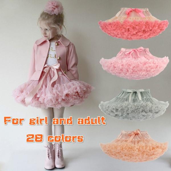 Fashion Fluffy Chiffon Pettiskirts Baby Girls Tutu Skirts Princess Dance Skirt
