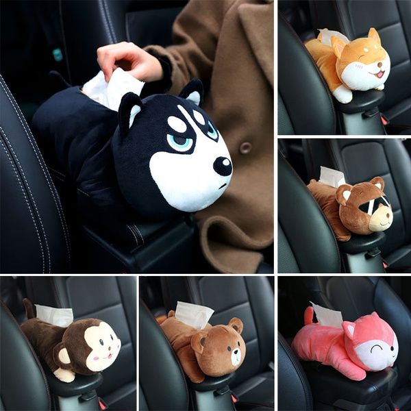 Plush Storage Case Cartoon Animal Container Porch Tissue Boxes Napkin Paper