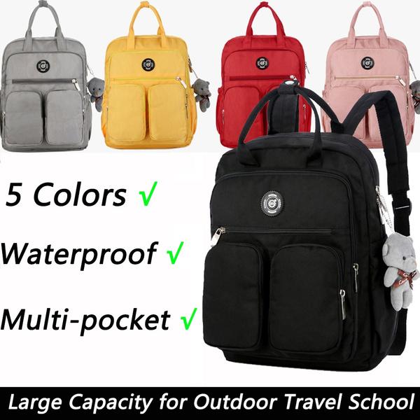 Women Backpack Multi Pocket Waterproof Shoulder Bag Travel Large Capacity