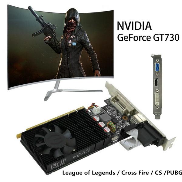 NVIDIA GeForce GT730 2GB DDR3 DVI VGA HDMI PCI-E Low Profile Graphics Card  League of Legends / Cross Fire / CS /PUBG/ Better Game Experience