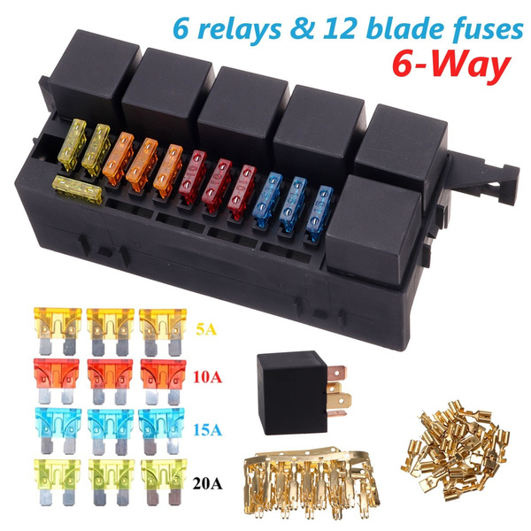 6 x 80A Car Relay Box 6 Relays 3 x 5A/10A/15A/ 20A Blade Fuse ... Fuse And Relay Box Wish