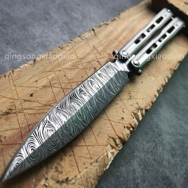 NEW! Beautiful Sharp Blade | Practice Butterfly Knife Balisong Training  Combat Trainer Flip Knife Tactical Knives Self Defense EDC Tool Metal High