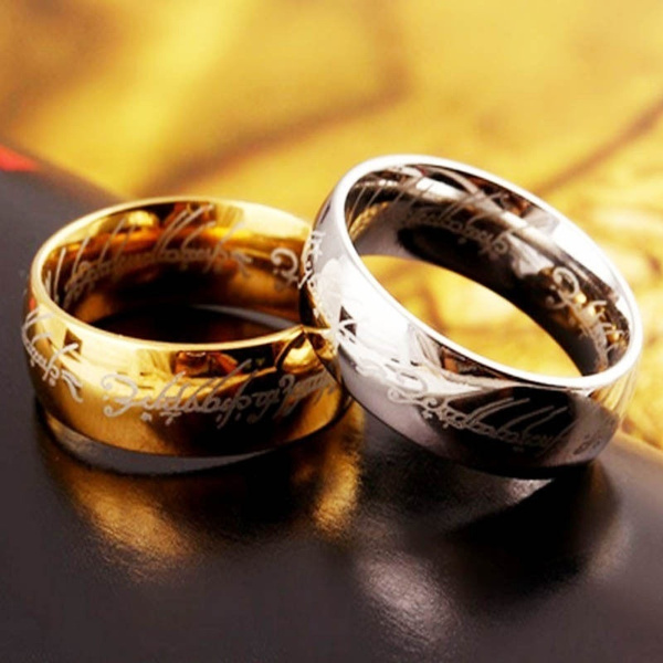 Lord Of The Rings Wedding Band.Ring Size 6 13 Lord Of The Rings Stainless Steel Men Women Lotr The One Band