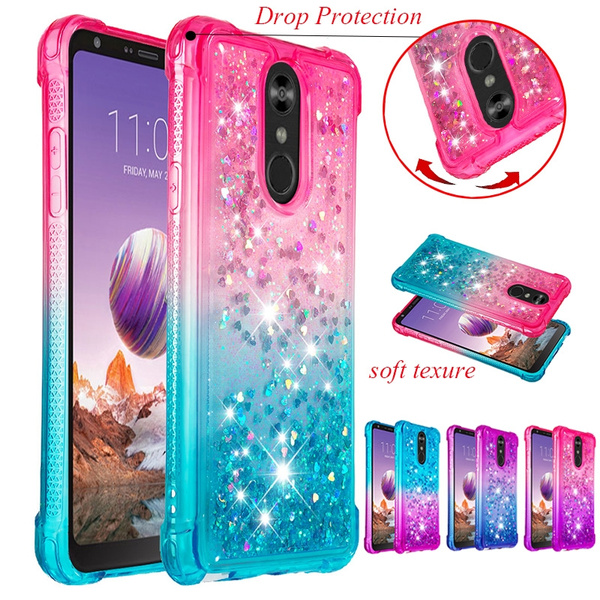 Stylo 4 Case , Liquid Glitter Sparkle Girl Women Cute Clear TPU Protective  Case Cover for LG Stylo 4 / LG Q Stylus (2018) / LG Stylo 4 Plus / LG