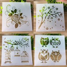 Owl, Embellishments, stencil, Scrapbooking