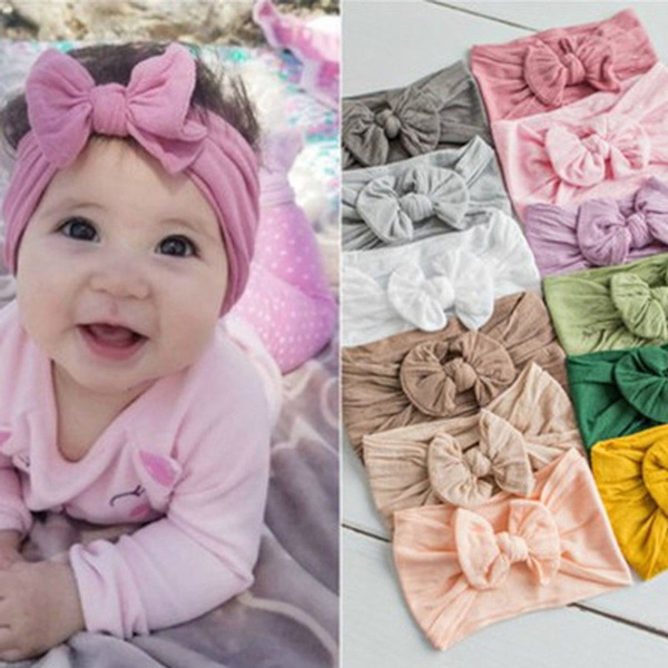 Newly Kid Girl Baby Toddler Turban Knot Headband Hair Band Headwear Accessories