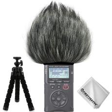 Microphone, Outdoor, black, micwindscreenwindmuffforolympusls14ls14