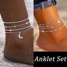 Anklets, Chain, Simple, beachanklet