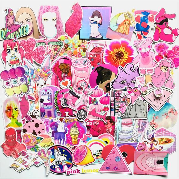 pink, Car Sticker, luggagesticker, Computers