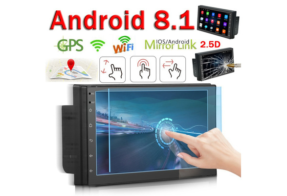 2 Din Android 8 1 GPS WIFI Bluetooth Car Stereo Radio 7'' 2 5D TFT  Capacitance Touch Screen Car Multimedia Player WIFI FM AM Radio Receiver  Suppport