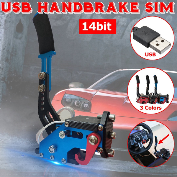 14Bit PC USB Handbrake SIM Racing Extra Hand Brake for Racing Games  G25/27/29 T500 FANATECOSW DIRT RALLY