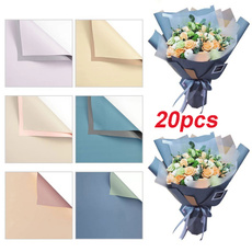 Flowers, wrappingpaper, Bouquet, Handmade