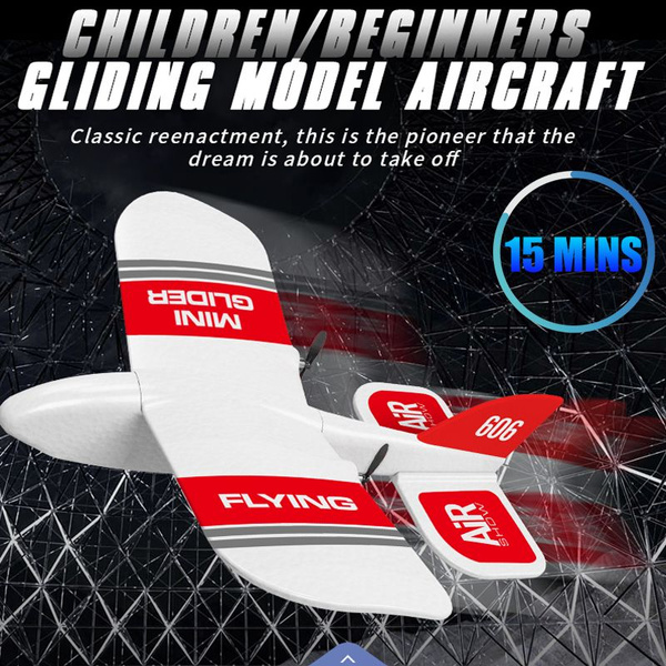 Professional RC Airplane Glider Remote Control Plane Outdoor Aircraft+15min  flight time + a variety of special effects +2 4GHz + ultra light
