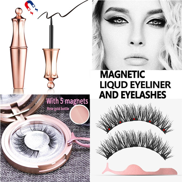 0cf7c07bcdd New Five Magnetic Eyeliner With Magnetic Eyelashes Magnetic Lash Liner For  Use With Magnetic False Lashes Women Beauty Eye Fashion Handmade Waterproof  ...