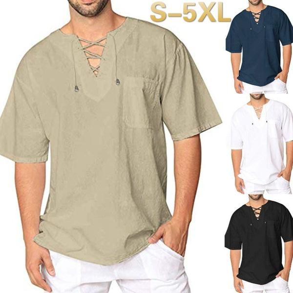 Fashion, Cotton Shirt, Lace, mens tops