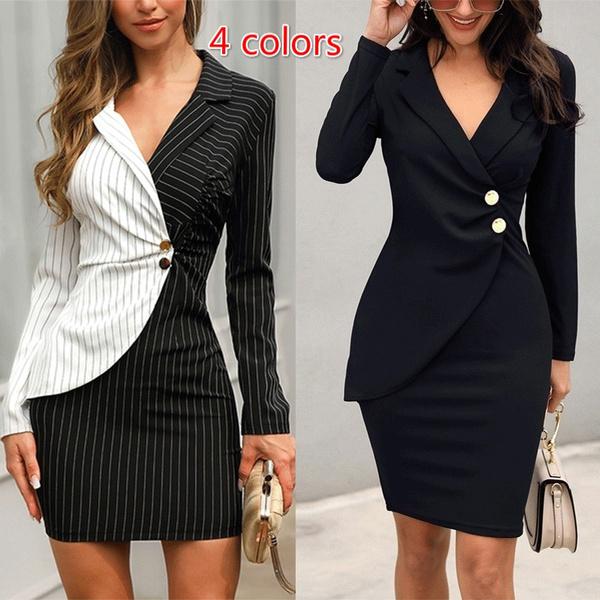 work dress, dressesforwomen, Blazer, Necks