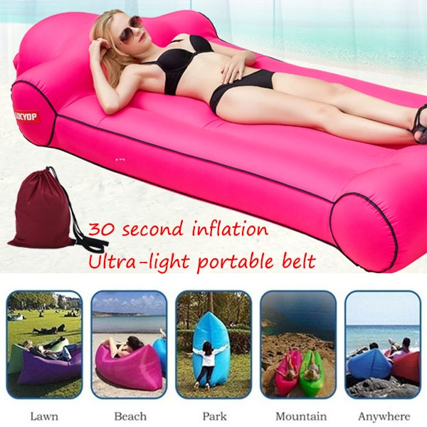 Pleasant Portable With High Quality Fast Inflatable Lazy Couch Lazy Air Sofa Bag Chair Outdoor Beach Lounger Travel Camping Pabps2019 Chair Design Images Pabps2019Com