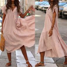 Summer, Shorts, Sleeve, long dress