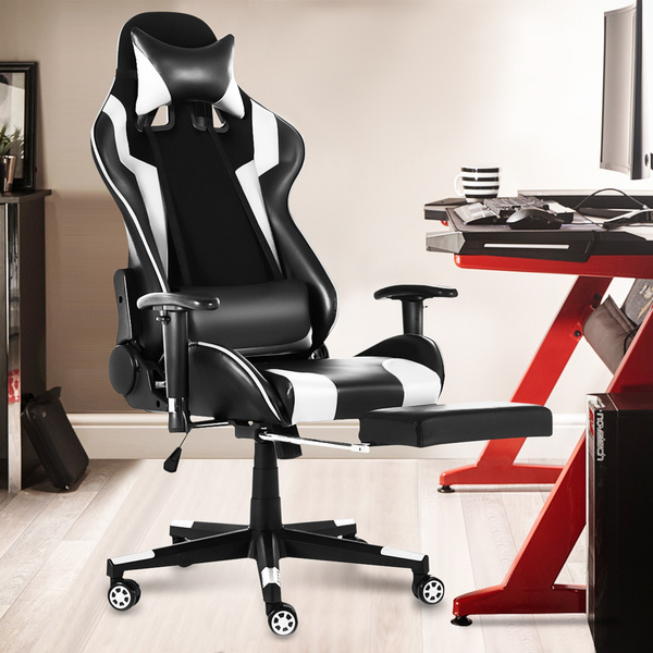 Fine Stable Recliner Ergonomic 90 180 Degree Lying Recliner Executive Office Gaming Chair Racing Computer Rocker High Back Footrest Stool Ncnpc Chair Design For Home Ncnpcorg