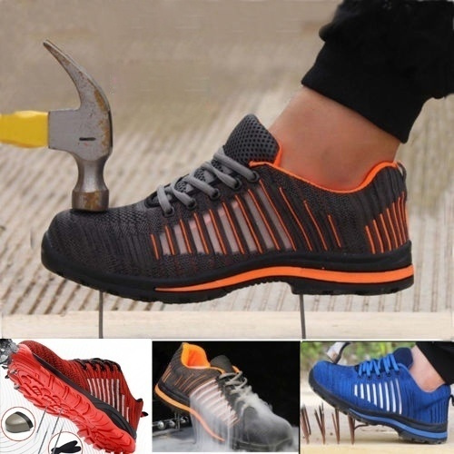 Mens Lightweight Steel Toe Cap Safety Work Trainers Shoes Boots Ankle New